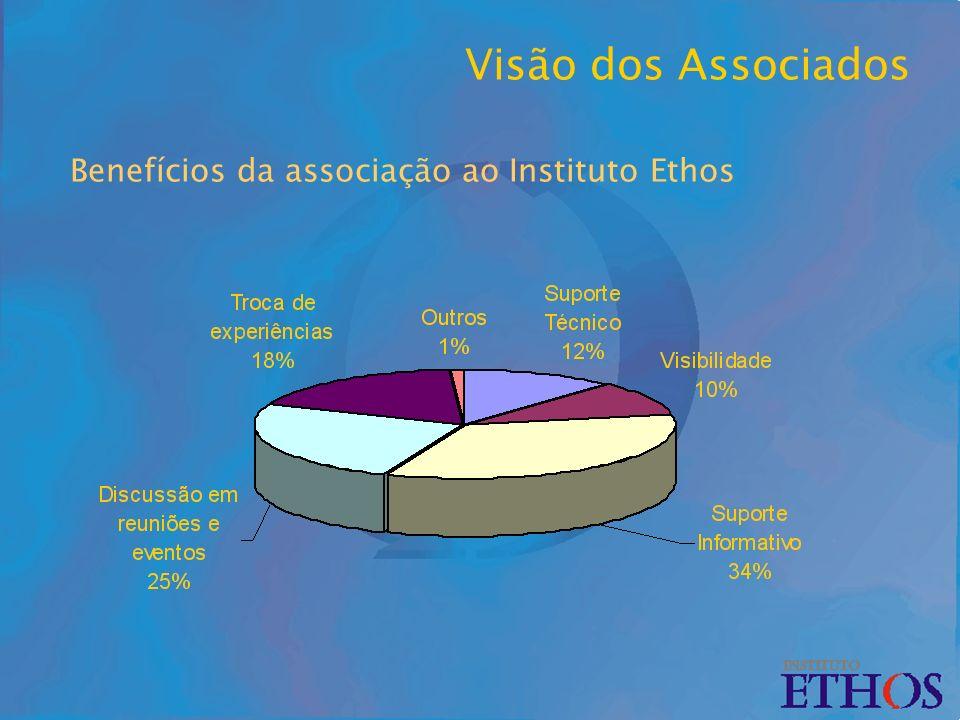 Benefícios da associação ao Instituto Ethos Visão dos Associados