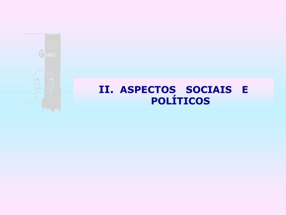 II. ASPECTOS SOCIAIS E POLÍTICOS