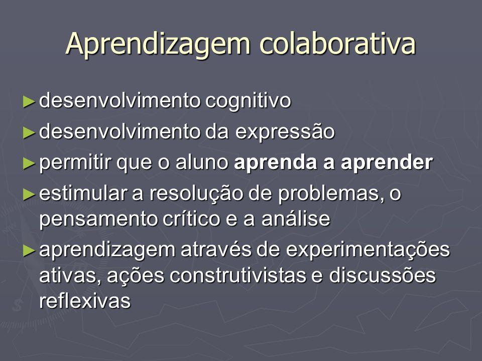 Aprendizagem colaborativa desenvolvimento cognitivo desenvolvimento cognitivo desenvolvimento da expressão desenvolvimento da expressão permitir que o