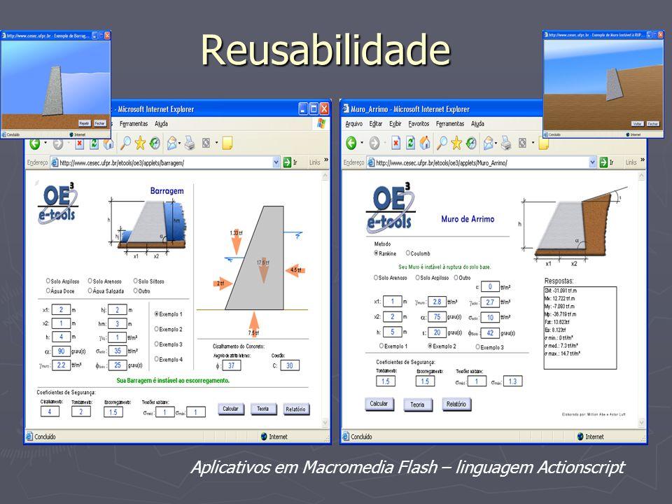 Reusabilidade Aplicativos em Macromedia Flash – linguagem Actionscript