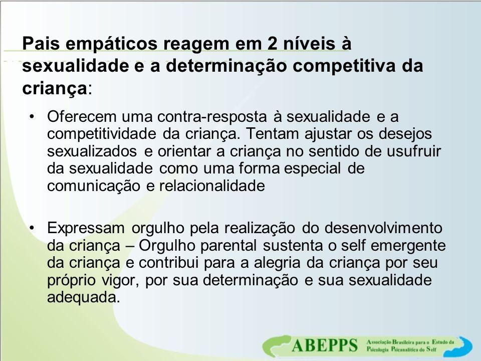 Pais empáticos reagem em 2 níveis à sexualidade e a determinação competitiva da criança: Oferecem uma contra-resposta à sexualidade e a competitividad