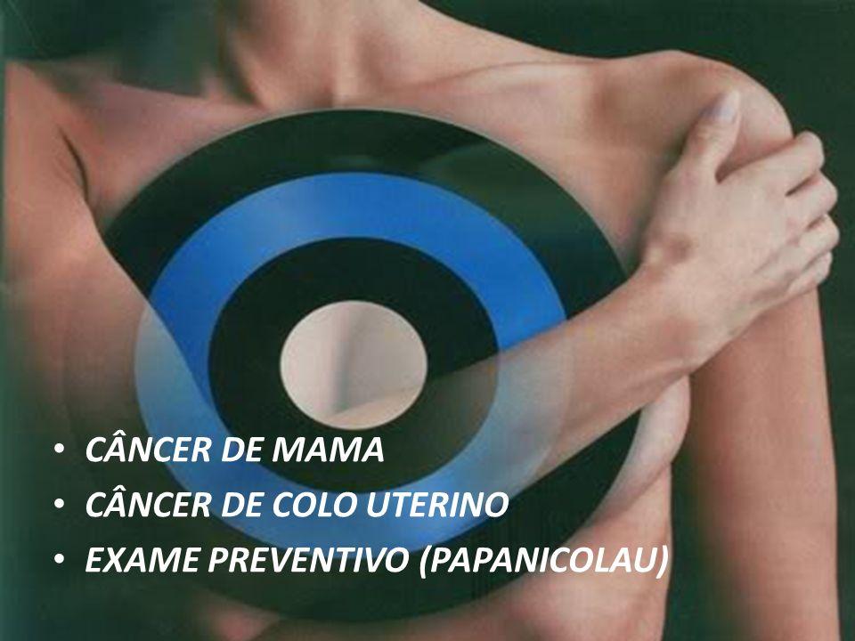 CÂNCER DE MAMA CÂNCER DE COLO UTERINO EXAME PREVENTIVO (PAPANICOLAU)