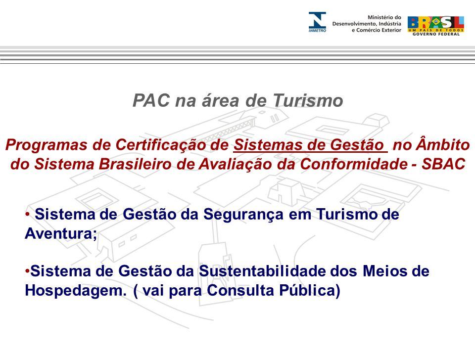 Programas de Certificação de Sistemas de Gestão no Âmbito do Sistema Brasileiro de Avaliação da Conformidade - SBAC Sistema de Gestão da Segurança em
