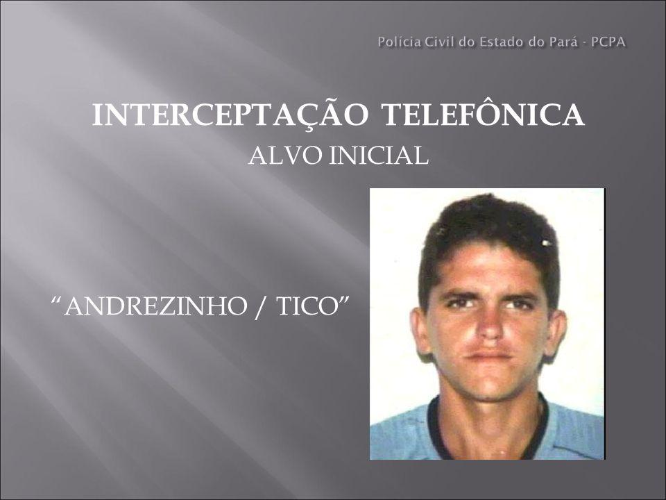INTERCEPTAÇÃO TELEFÔNICA ALVO INICIAL ANDREZINHO / TICO