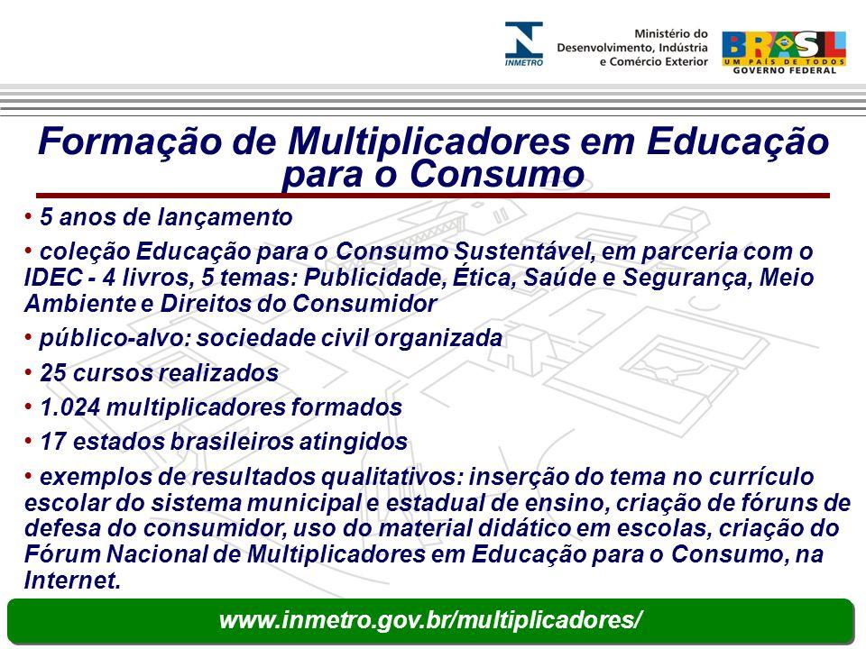 Formação de Multiplicadores em Educação para o Consumo 5 anos de lançamento coleção Educação para o Consumo Sustentável, em parceria com o IDEC - 4 li