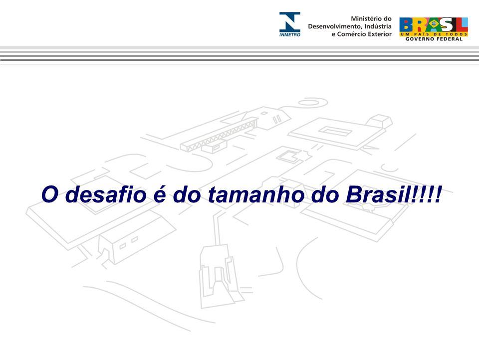 O desafio é do tamanho do Brasil!!!!