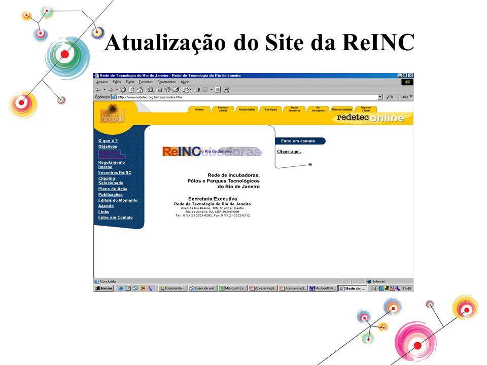 Atualização do Site da ReINC