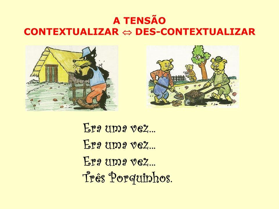 A TENSÃO CONTEXTUALIZAR DES-CONTEXTUALIZAR Era uma vez... Três Porquinhos.