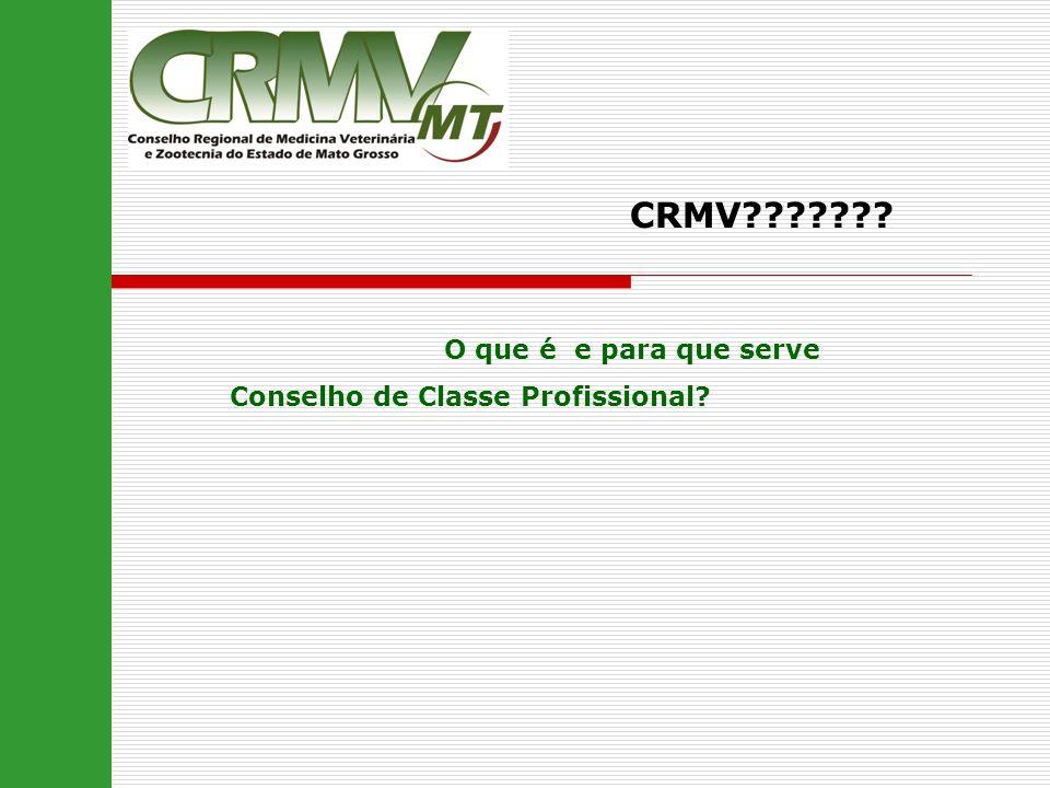 CRMV??????? O que é e para que serve Conselho de Classe Profissional?