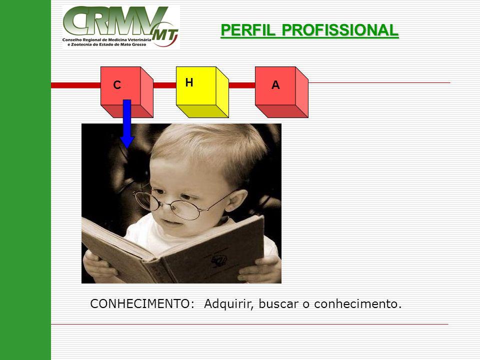 AC H PERFIL PROFISSIONAL CONHECIMENTO: Adquirir, buscar o conhecimento.