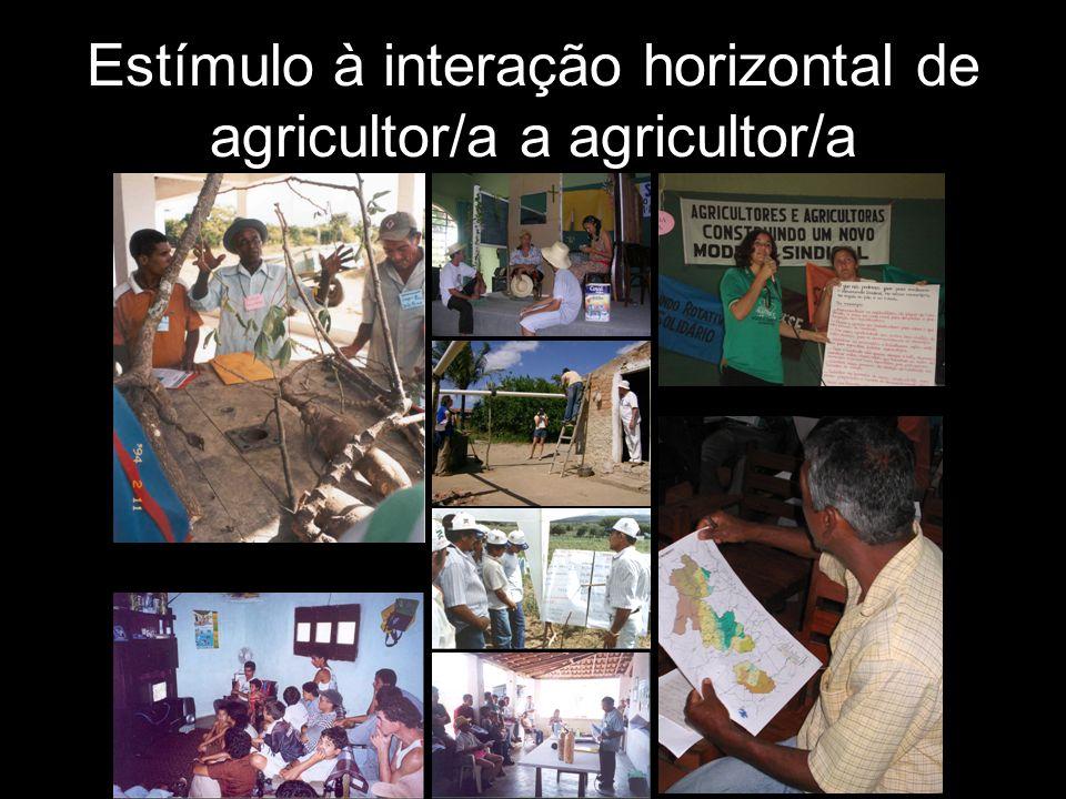 Estímulo à interação horizontal de agricultor/a a agricultor/a