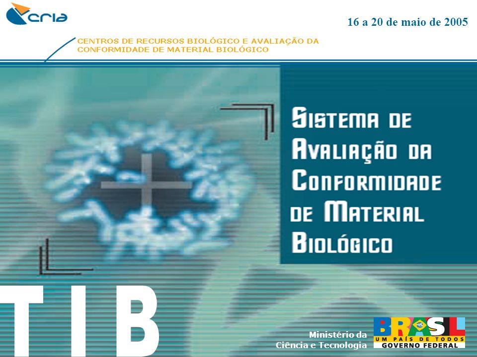Ministério da Ciência e Tecnologia 16 a 20 de maio de 2005