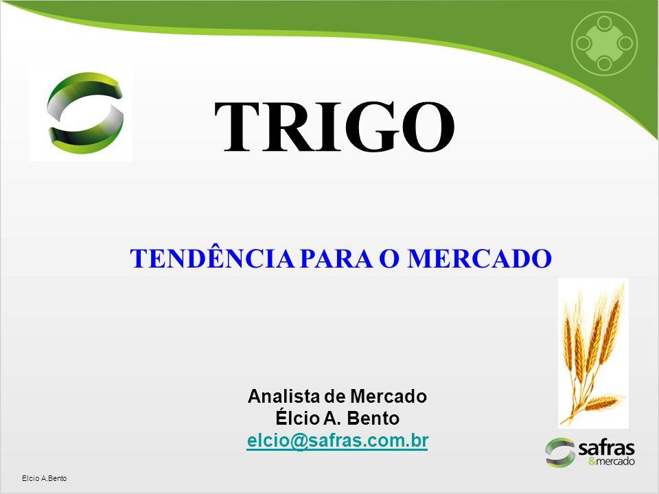Elcio A.Bento TENDÊNCIA PARA O MERCADO TRIGO Analista de Mercado Élcio A. Bento elcio@safras.com.br