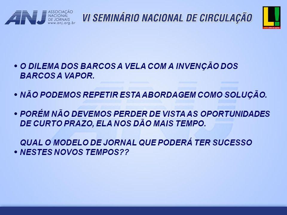 OS JORNAIS DO FUTURO NÃO SERÃO JORNAIS, SERÃO UM DOS PILARES DE UMA PLATAFORMA DE COMUNICAÇÃO.