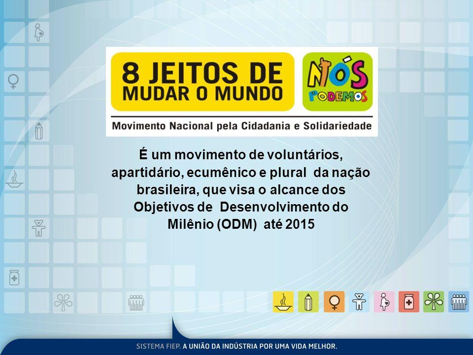 É um movimento de voluntários, apartidário, ecumênico e plural da nação brasileira, que visa o alcance dos Objetivos de Desenvolvimento do Milênio (OD