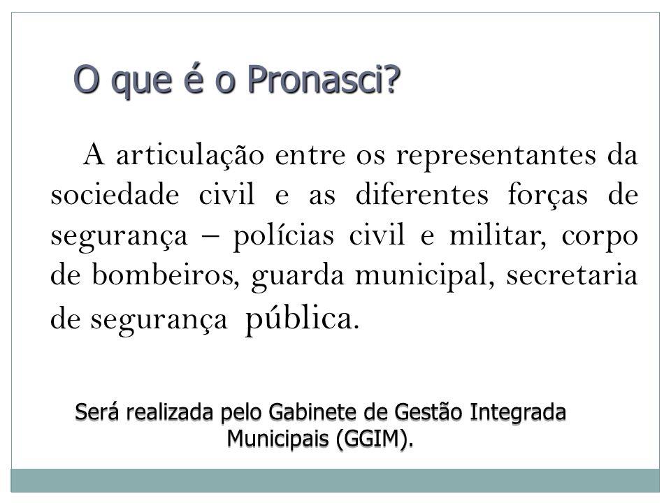 A articulação entre os representantes da sociedade civil e as diferentes forças de segurança – polícias civil e militar, corpo de bombeiros, guarda mu