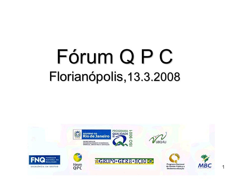 1 Fórum Q P C Florianópolis, 13.3.2008