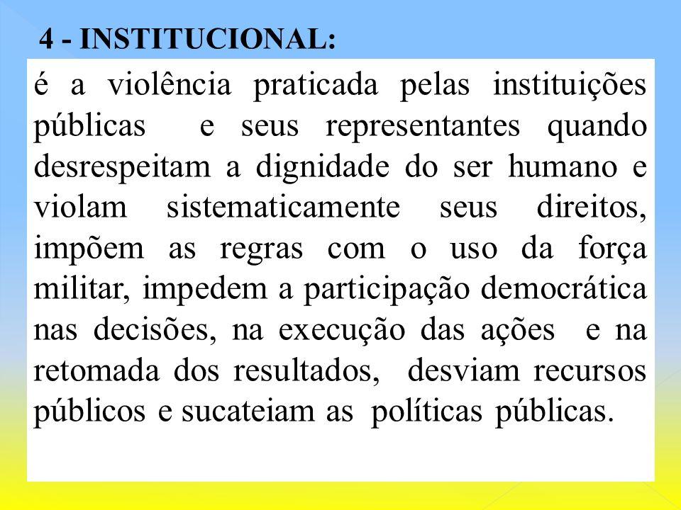 b) A violência estatais dos Fóruns privilegiados. c) Impunidade seletiva ( à impunidade sistemática dos agentes da alta corrupção ); d) Cidadania emba