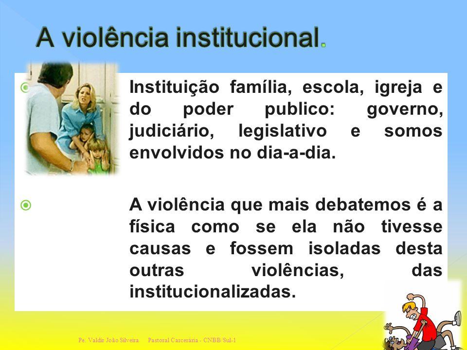 é a violência praticada pelas instituições públicas e seus representantes quando desrespeitam a dignidade do ser humano e violam sistematicamente seus