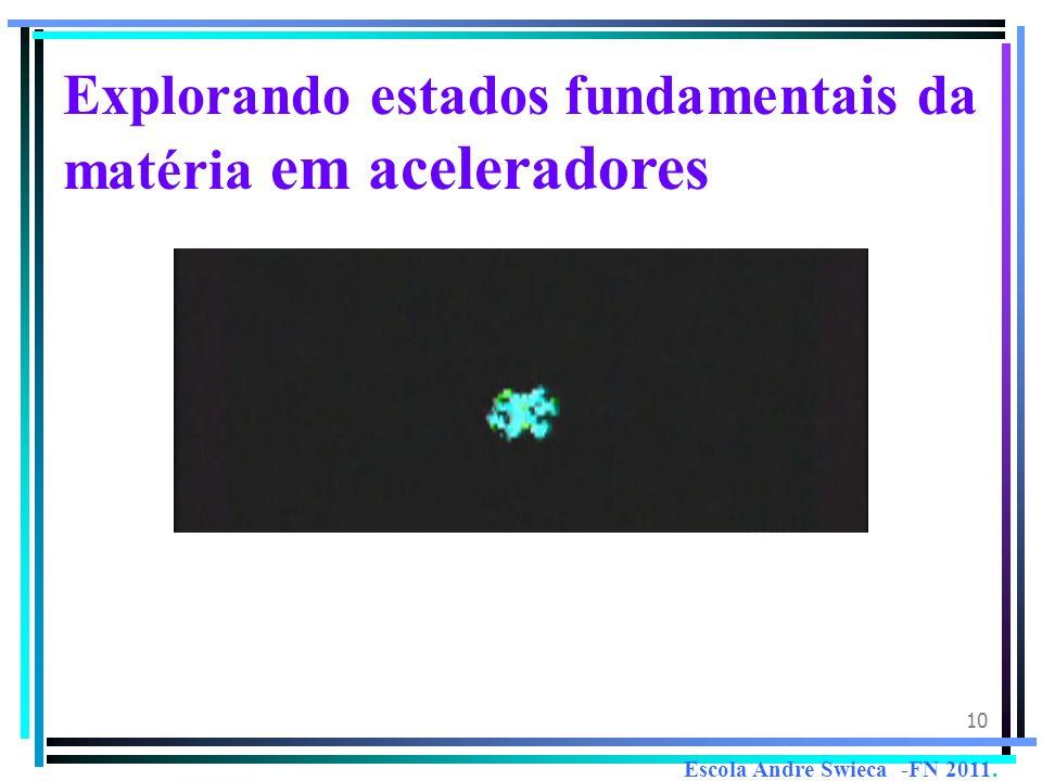 10 Explorando estados fundamentais da matéria em aceleradores Escola Andre Swieca -FN 2011.