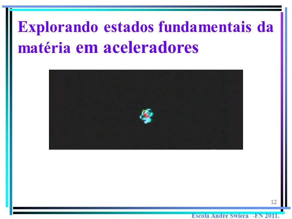 12 Explorando estados fundamentais da matéria em aceleradores Escola Andre Swieca -FN 2011.