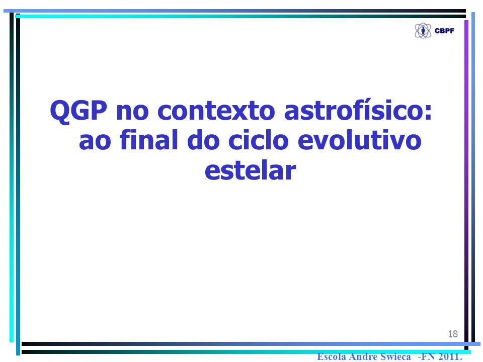 18 QGP no contexto astrofísico: ao final do ciclo evolutivo estelar Escola Andre Swieca -FN 2011.