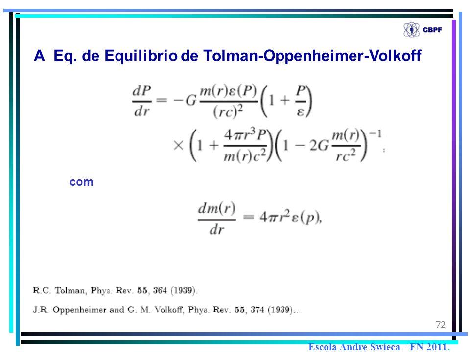 72 A Eq. de Equilibrio de Tolman-Oppenheimer-Volkoff com Escola Andre Swieca -FN 2011.