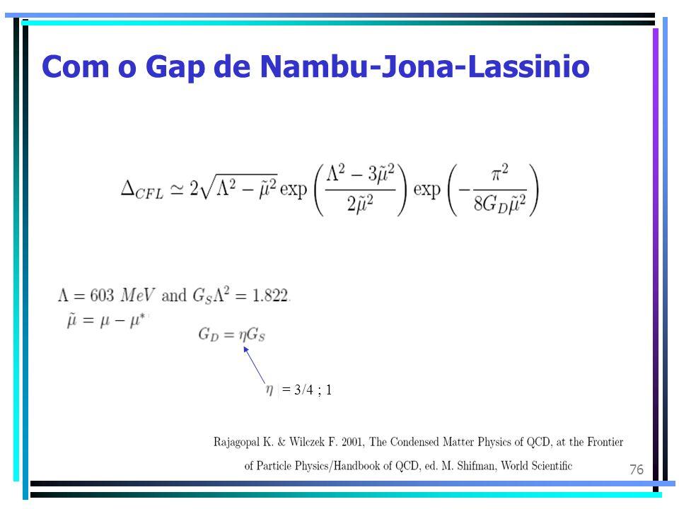 76 Com o Gap de Nambu-Jona-Lassinio = 3/4 ; 1