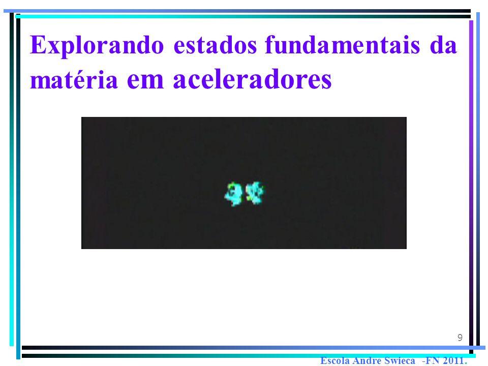 9 Explorando estados fundamentais da matéria em aceleradores Escola Andre Swieca -FN 2011.
