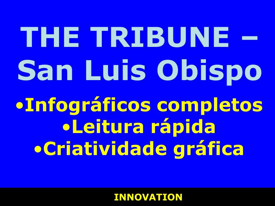 INNOVATION INNOVATION THE TRIBUNE – San Luis Obispo Infográficos completos Leitura rápida Criatividade gráfica