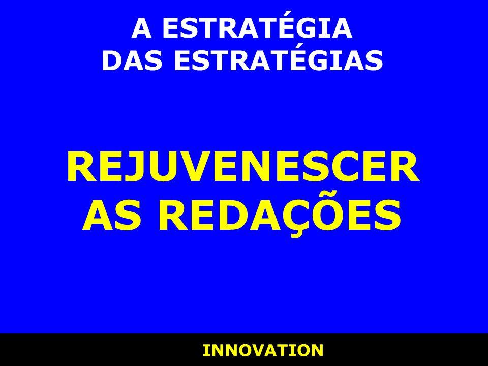 INNOVATION INNOVATION A ESTRATÉGIA DAS ESTRATÉGIAS REJUVENESCER AS REDAÇÕES