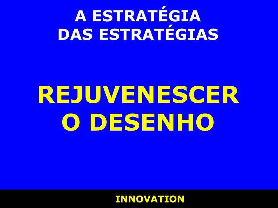 INNOVATION INNOVATION A ESTRATÉGIA DAS ESTRATÉGIAS REJUVENESCER O DESENHO