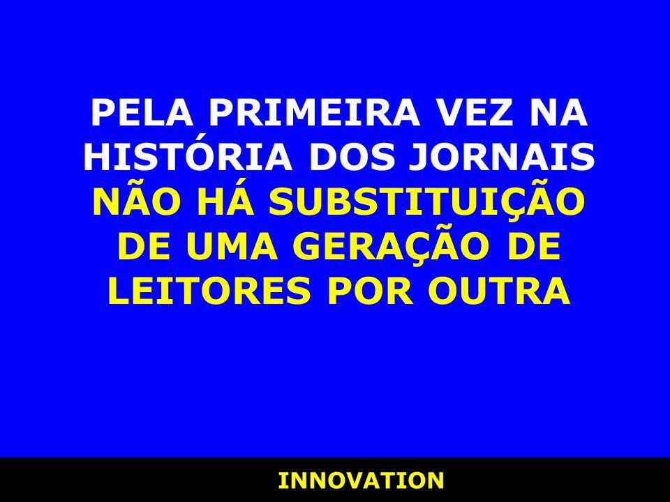 INNOVATION INNOVATION PELA PRIMEIRA VEZ NA HISTÓRIA DOS JORNAIS NÃO HÁ SUBSTITUIÇÃO DE UMA GERAÇÃO DE LEITORES POR OUTRA
