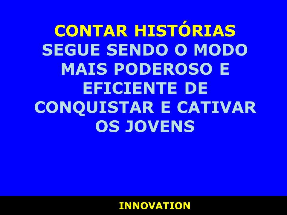 INNOVATION INNOVATION CONTAR HISTÓRIAS SEGUE SENDO O MODO MAIS PODEROSO E EFICIENTE DE CONQUISTAR E CATIVAR OS JOVENS