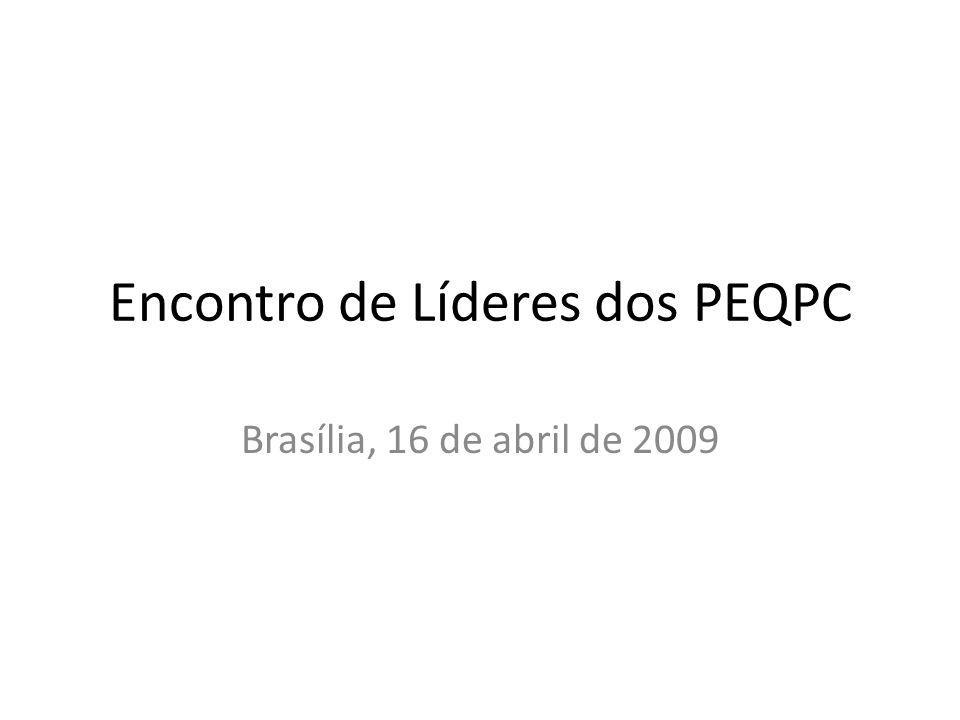 Encontro de Líderes dos PEQPC Brasília, 16 de abril de 2009