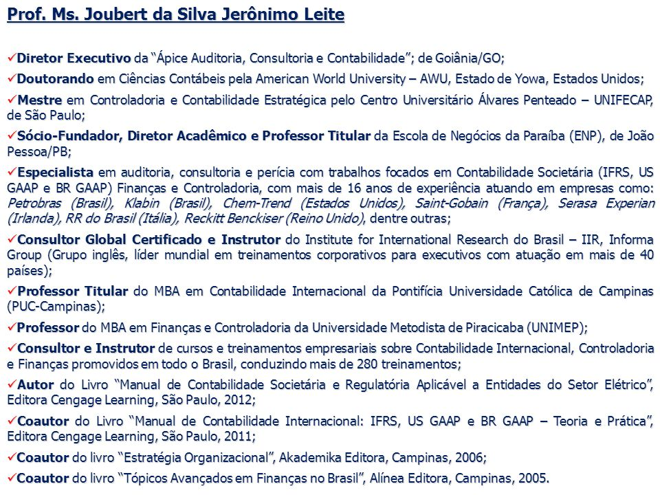 89 AGENDA DE TREINAMENTO 2012 ÁPICE AUDITORIA, CONSULTORIA E CONTABILIDADE