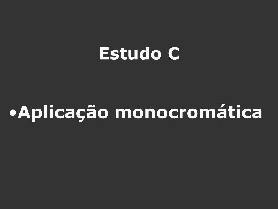 Estudo C Aplicação monocromática
