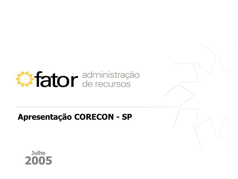 Julho 2005 Apresentação CORECON - SP