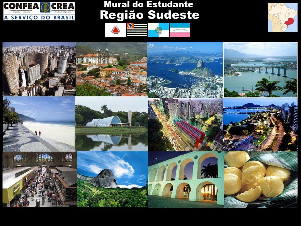 Região Sudeste Mural do Estudante São PauloMinas Gerais Rio de JaneiroEspírito Santo 10 Anos de CREA Jr