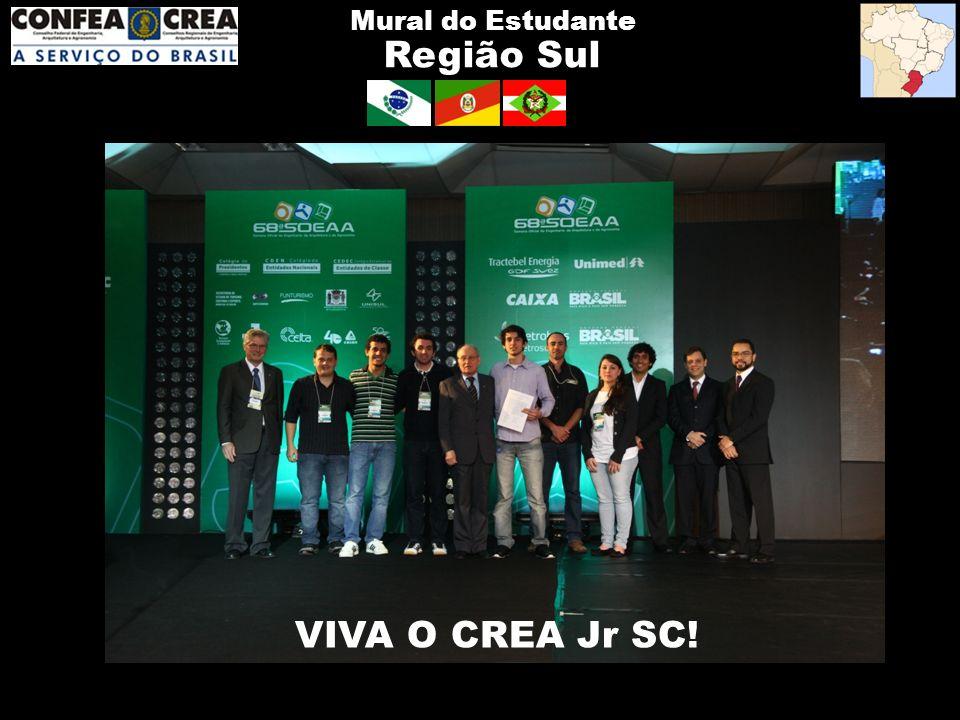 Região Sul Mural do Estudante VIVA O CREA Jr SC!