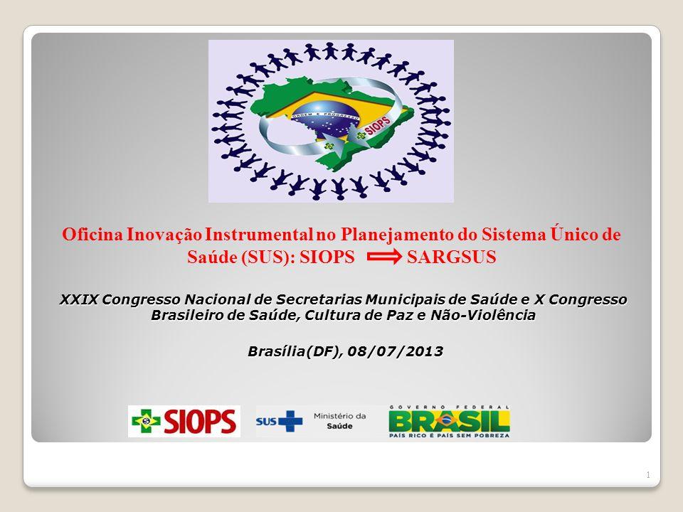 XXIX Congresso Nacional de Secretarias Municipais de Saúde e X Congresso Brasileiro de Saúde, Cultura de Paz e Não-Violência Brasília(DF), 08/07/2013