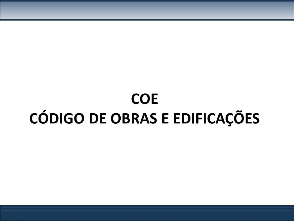 COE CÓDIGO DE OBRAS E EDIFICAÇÕES