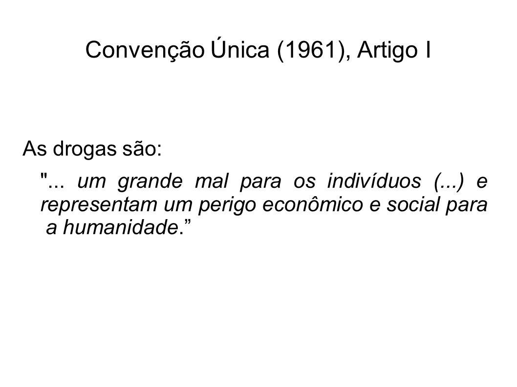 Convenção Única (1961), Artigo I As drogas são: