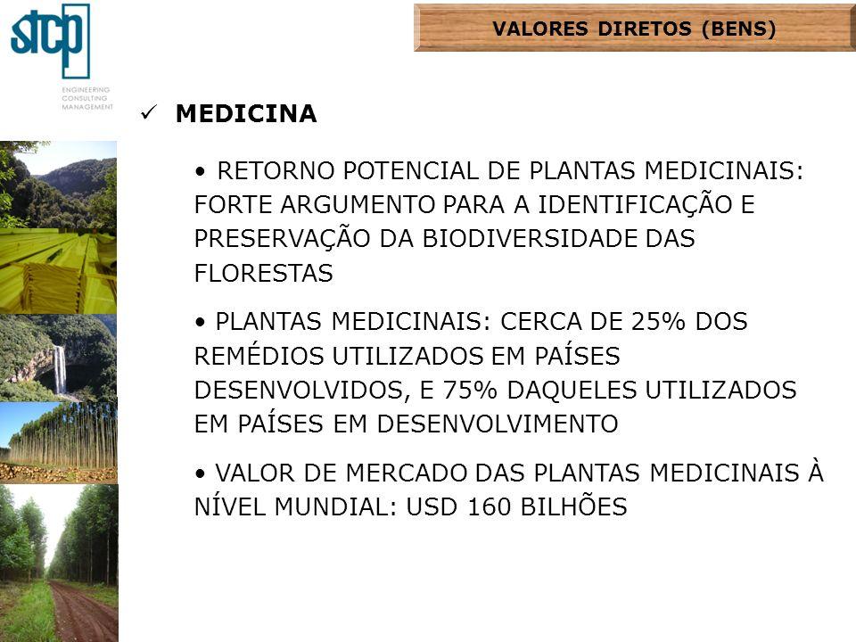 MEDICINA RETORNO POTENCIAL DE PLANTAS MEDICINAIS: FORTE ARGUMENTO PARA A IDENTIFICAÇÃO E PRESERVAÇÃO DA BIODIVERSIDADE DAS FLORESTAS PLANTAS MEDICINAI