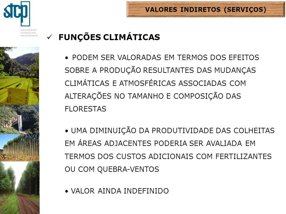 FUNÇÕES CLIMÁTICAS PODEM SER VALORADAS EM TERMOS DOS EFEITOS SOBRE A PRODUÇÃO RESULTANTES DAS MUDANÇAS CLIMÁTICAS E ATMOSFÉRICAS ASSOCIADAS COM ALTERA