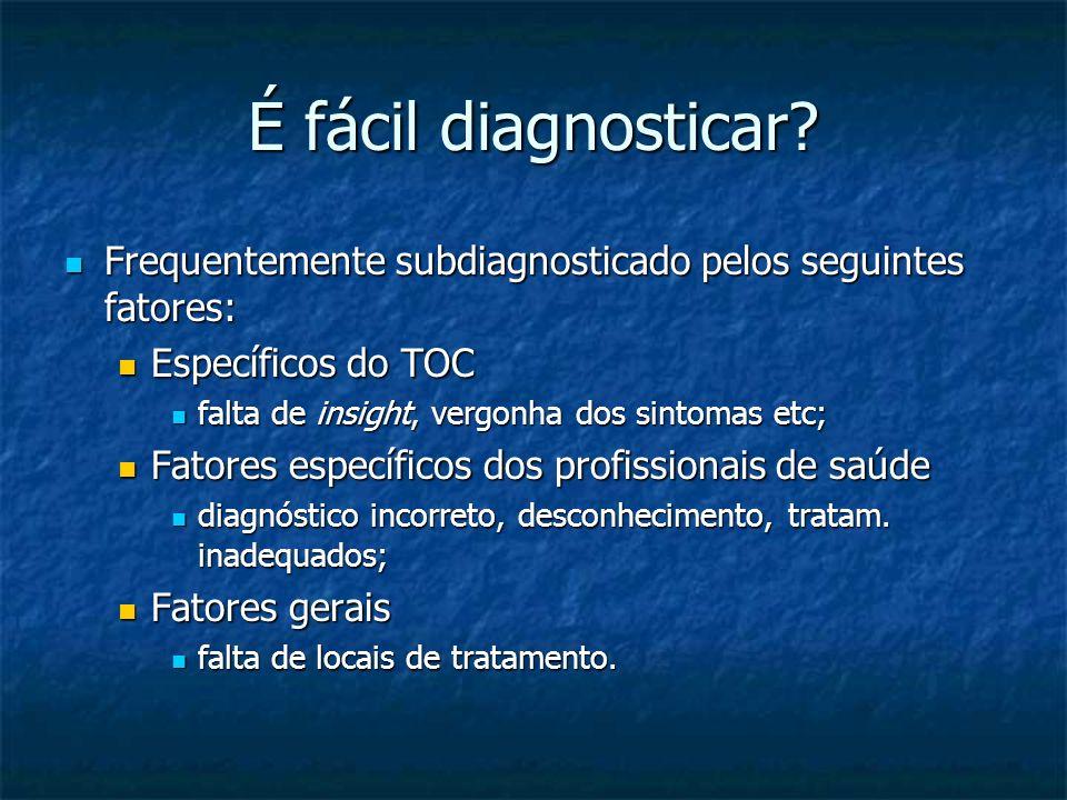 É fácil diagnosticar? Frequentemente subdiagnosticado pelos seguintes fatores: Frequentemente subdiagnosticado pelos seguintes fatores: Específicos do