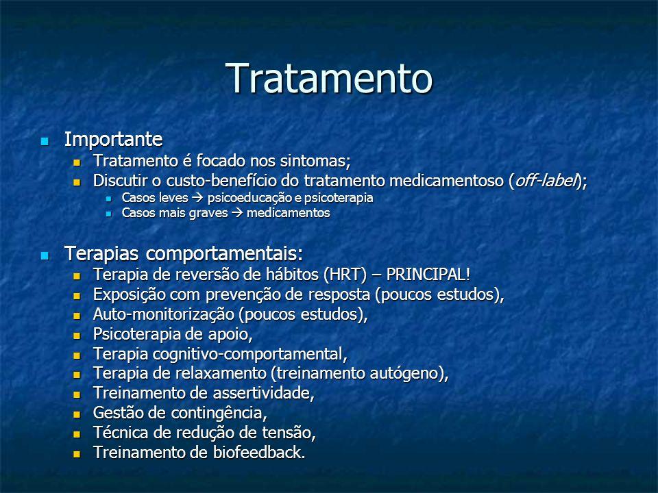Tratamento Importante Importante Tratamento é focado nos sintomas; Tratamento é focado nos sintomas; Discutir o custo-benefício do tratamento medicame