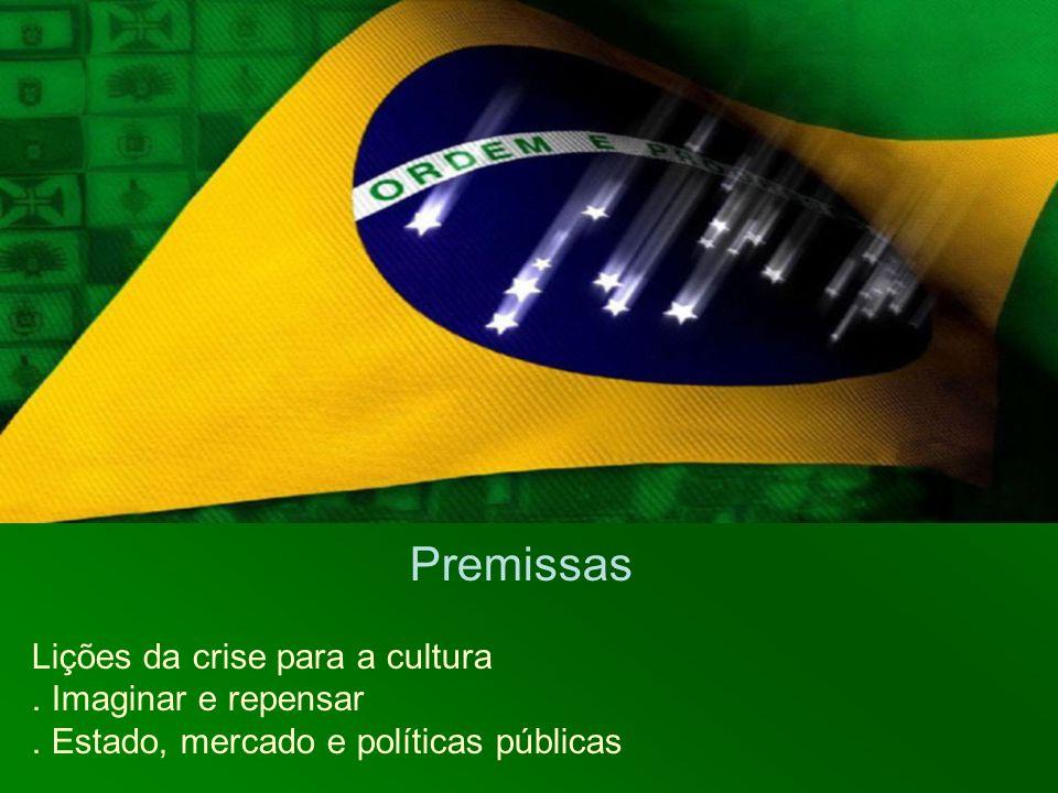 Premissas Lições da crise para a cultura. Imaginar e repensar. Estado, mercado e políticas públicas