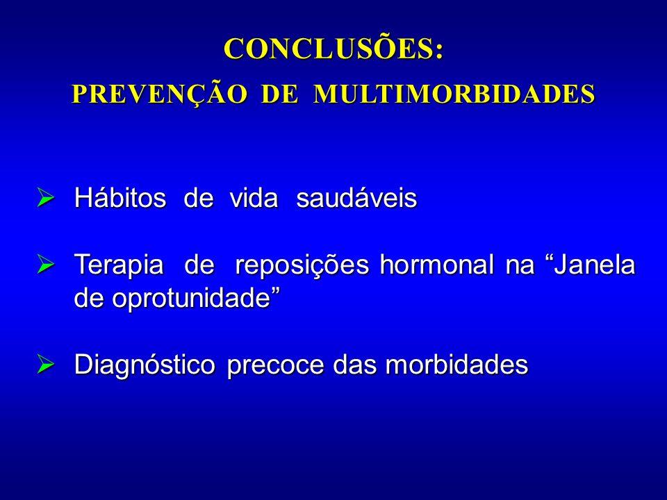 Hábitos de vida saudáveis Hábitos de vida saudáveis Terapia de reposições hormonal na Janela de oprotunidade Terapia de reposições hormonal na Janela