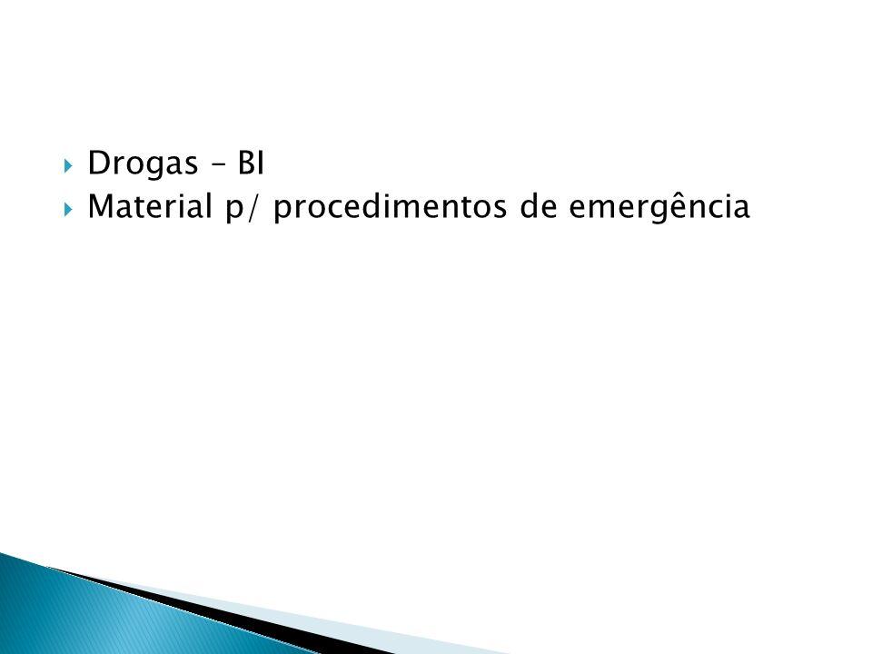 Drogas – BI Material p/ procedimentos de emergência